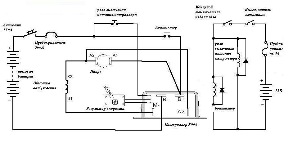 Электромобиль электрические схемы
